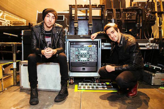 Jack Barakat and Alex Gaskarth of All Time Low