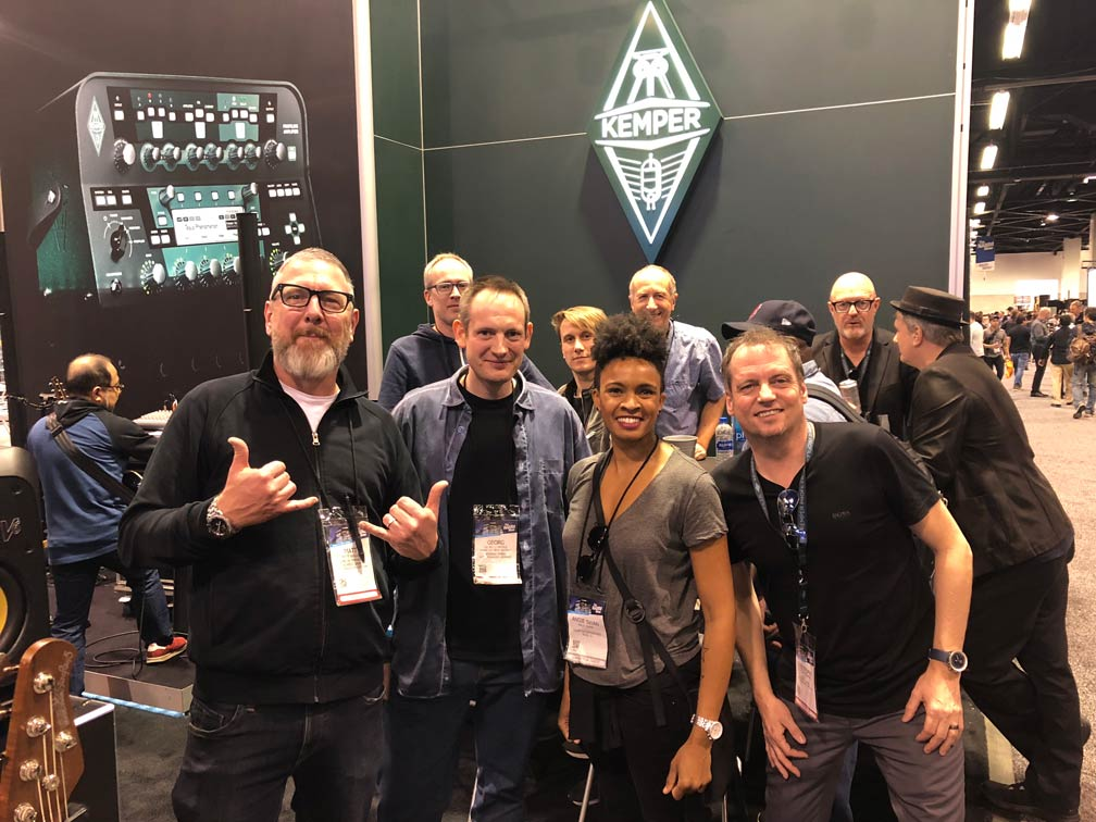 Angie Swan and the Kemper team at NAMM 2019