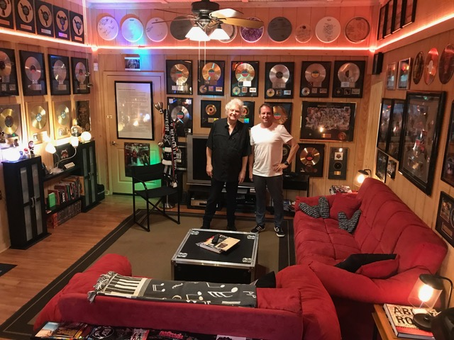 Michael Wagener and Christoph at the Wireworld studio