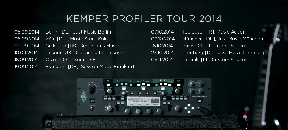 Kemper Profiler Workshop Tour 2014